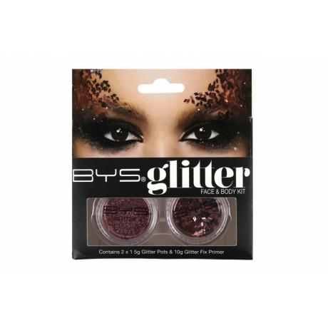 BYS Glitter Face & Body Kit ROSE GOLD
