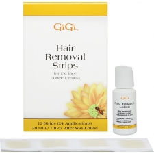 GiGi Wax Hair Removal Strips 12 tk