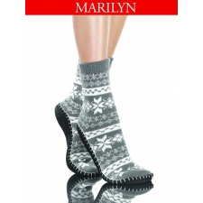 Socks L Marilyn 16/17 with leather sole