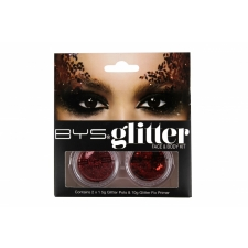 BYS Glitter Face & Body Kit RED