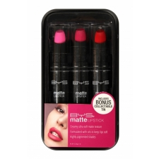 BYS Matte Lipstick Trio In Tin Berries
