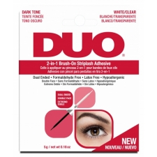 Ardell DUO 2-in-1 Brush On Ripsmekaarte liim Dark/White/Clear