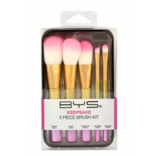BYS Makeup Brushes in Keepsake Tin Metallic Sparkle 5Pc