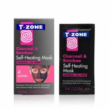 T-Zone Näomask Self Heating Mask Charcoal & Bamboo 4pc