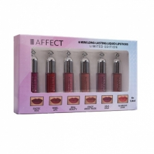 AFFECT Long-Lasting Liquid Lipsticks Set 6 mini