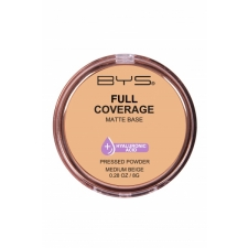 BYS Pressed Powder Full Coverage Medium Beige