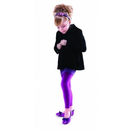 Marilyn Lasten leggingsit SUZAN SHINE 100 den violetti 128/146
