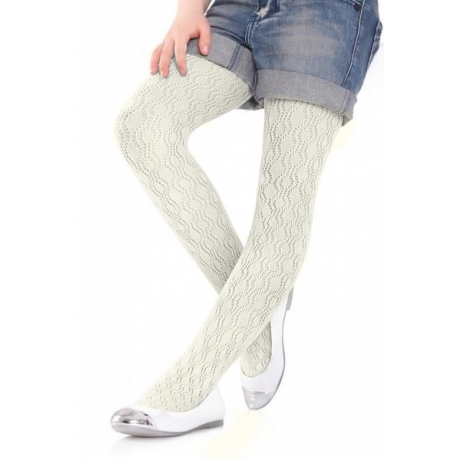 Marilyn Childrens tights Charlotte 274 creme 128/146