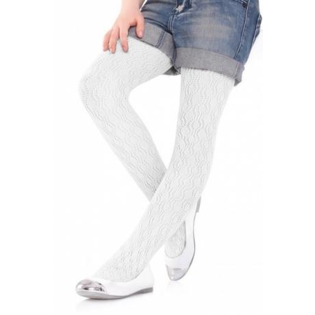 Marilyn Lasten sukkahousut Charlotte 274 valkoinen 128/146