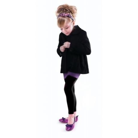 Marilyn Lasten leggingsit SUZAN SHINE 100 den musta 98/122