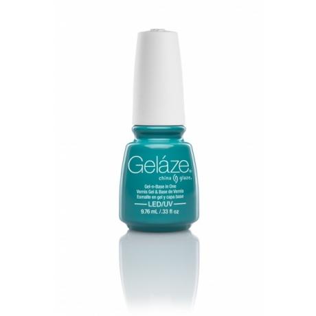 China Glaze Gelaze Гель-лак Turned Up Turquoise 9,76ml
