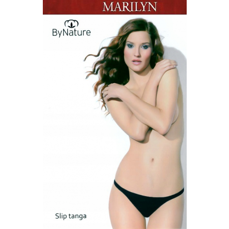 Marilyn Tanga Naiste alushousut By Nature musta 4/L