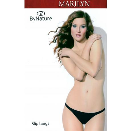 Marilyn Tanga Naisten alushousut By Nature musta 5/XL