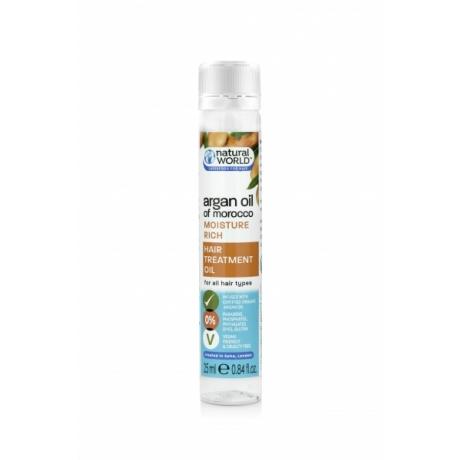 Natural World Argan Oil of Morocco Moisture Rich Hair Treatment Oil 25ml