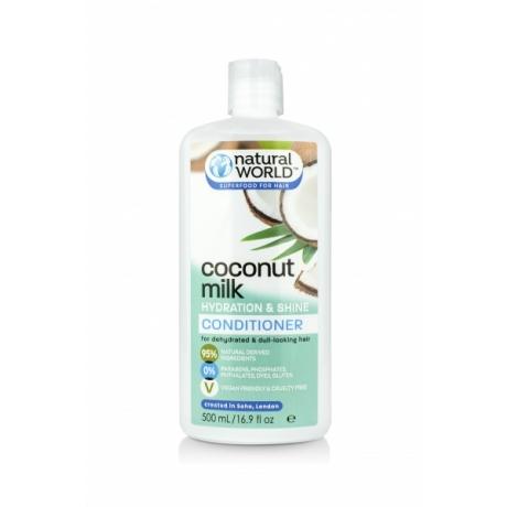 Natural World Coconut Milk Hydration&Shine hoitoaine 500ml