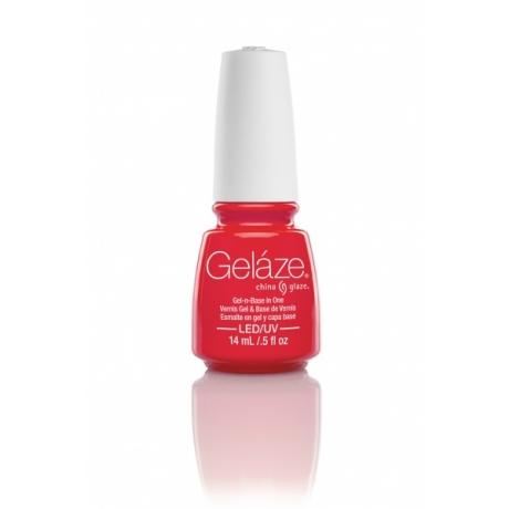 China Glaze Gelaze Gel Red Y To Rave 9,76ml