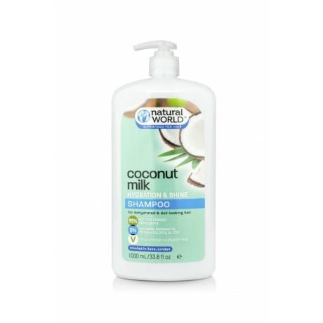 Natural World Coconut Milk Hydration and Shine Шампунь 1000мл