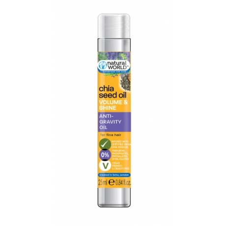 Natural World Chia Seed Oil Volume &Shine Масло для тонких волос 25мл