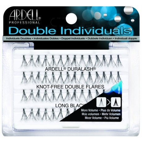 Ardell Knot-Free Double Flares Long Black Ripsitupsut