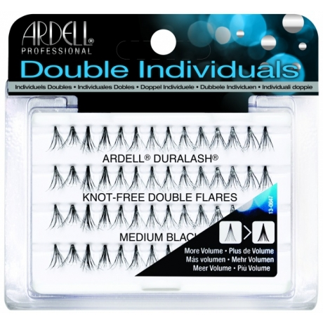 Ardell Knot-Free Double Flares Medium Black Ripsitupsut