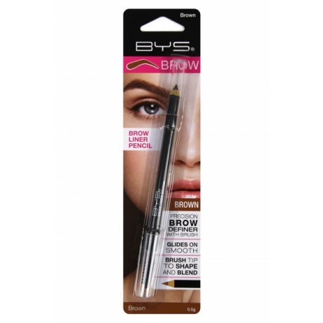 BYS Kulmupliiats Brow Liner Pencil with Brush Brown