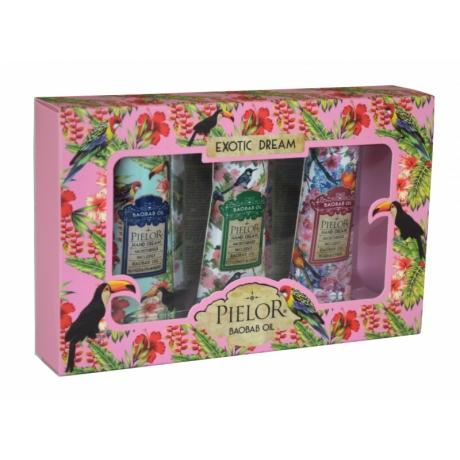 Pielor Exotic Dream Подарочный комплект 3 крема для рук Pink Box