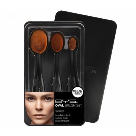 BYS Oval Makeup Brush Set 3 pc