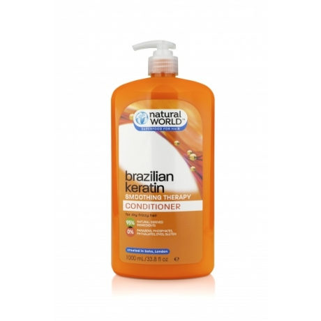 Natural World Brazilian Keratin Smoothing Therapy Бальзам для волос 1000мл