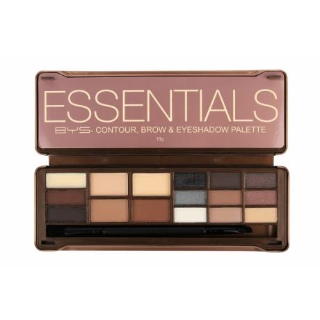 BYS Палетка для макияжа Makeup Contour, Brow & Eyeshadow ESSENTIALS