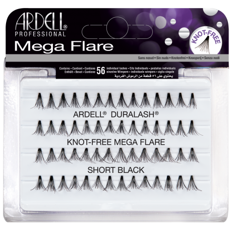 Ardell Mega Flare Knot-Free Short Black Ripsitupsut