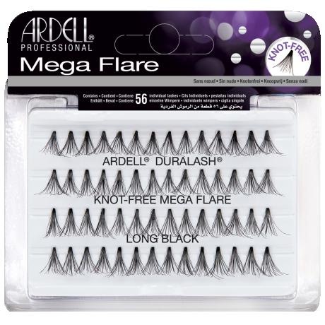 Ardell Mega Flare Knot-Free Long Black Пучковые ресницы