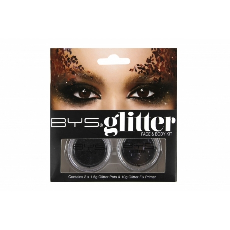 BYS Glitter näole ja kehale BLACK