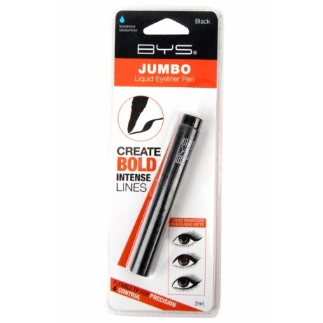 BYS Лайнер для глаз Liquid Eyeliner Pen Jumbo Tin Black