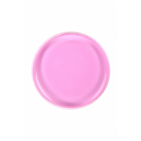 BYS Спонж для макияжа Silicone Blending Round Bright Pink