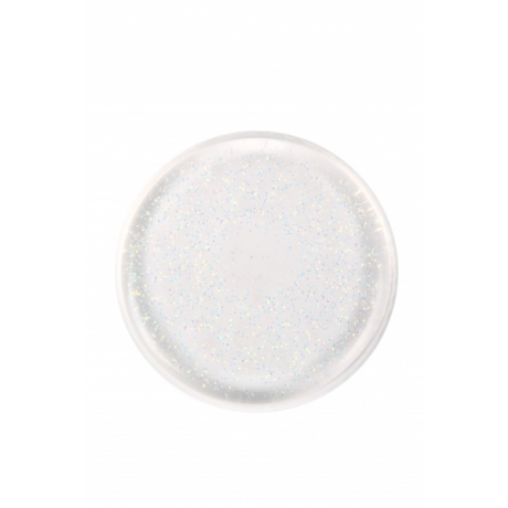 BYS Спонж для макияжа Silicone Blending Round Clear with AB Glitter