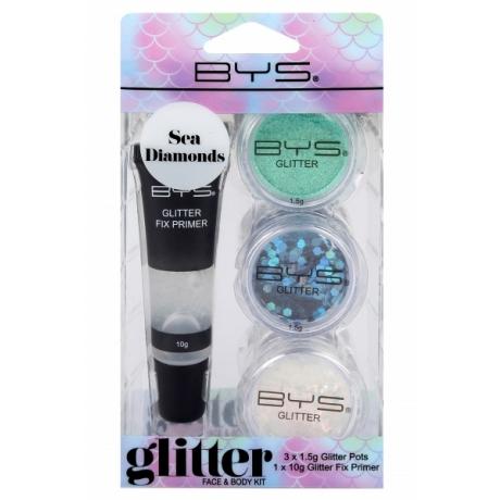 BYS Glitter Face and Body Kit SEA DIAMONDS