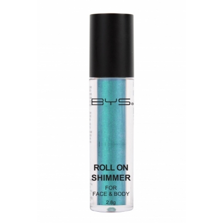 BYS Roll on Shimmer for Face and Body Aquamarine Green