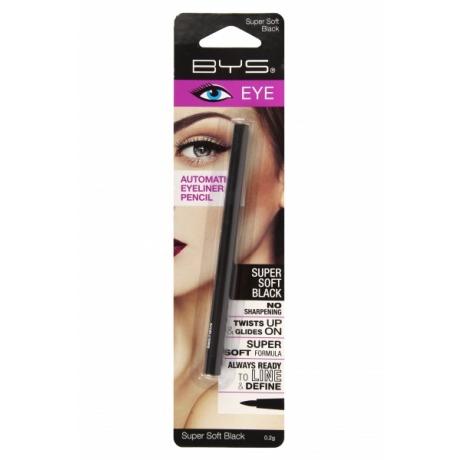 BYS Карандаш для глаз Automatic Eyeliner Pencil Supersoft Black