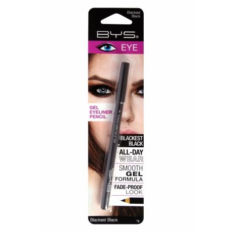 BYS Eyeliner Pencil Gel Blackest Black