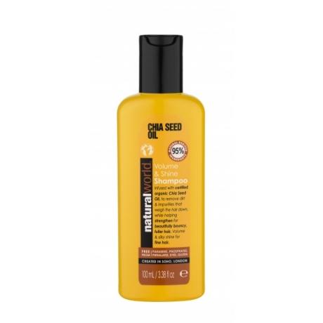 Natural World Chia Seed Oil Volume&Shine Shampoo 100ml