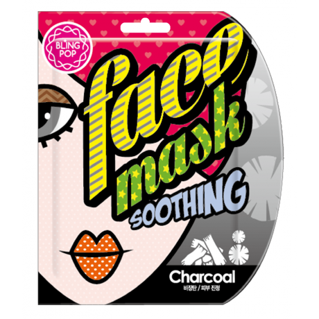 Bling Pop Charcoal Black Bamboo Mask 25ml