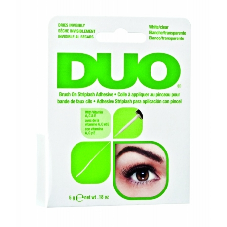 Ardell DUO Brush On Striplash Adhesive with Vitamins White/Clear 5 gr