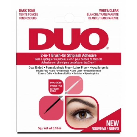 Ardell DUO 2-in-1 Brush- On Клей для накладных ресниц с кисточкой темный/белый /прозрачный 5г