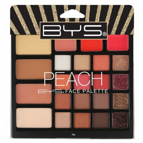 BYS Face Palette PEACH 23pc In Glitter Box