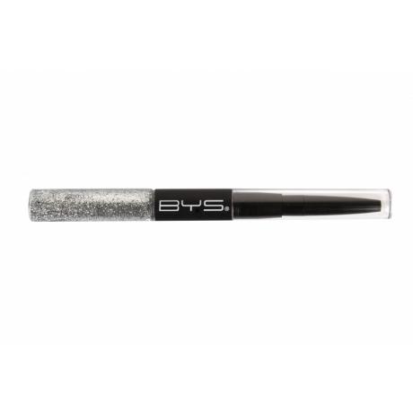 BYS Лайнер для глаз Glitter & Liner Duo Silver