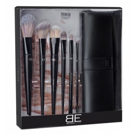 Beter Elite Make Up Brushes 6pc Roll-up case