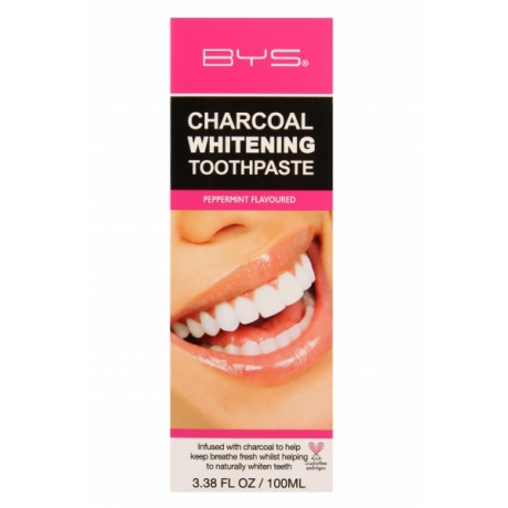 BYS Toothpaste Whitening Charcoal 100 ml