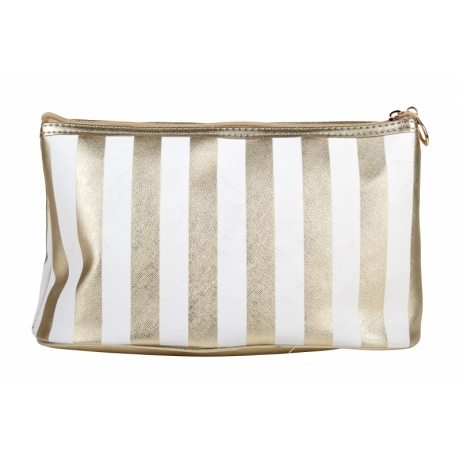 BYS Косметичка Vertical Stripe White Gold
