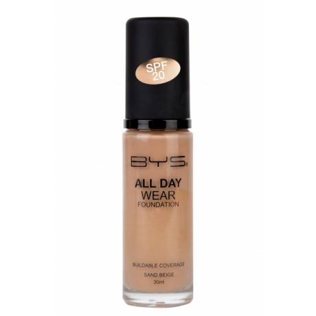 BYS All Day Wear Foundation Sand Beige 30 ml