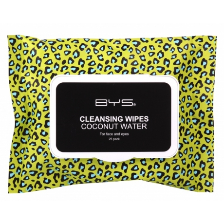 BYS GONE WILD Collection Cleansing Wipes Coconut Water 25pc